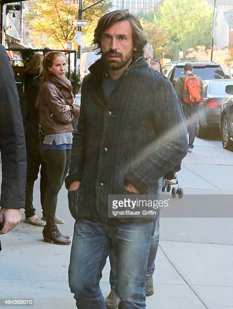 Andrea Pirlo is seen on October 26 2015 in New York City