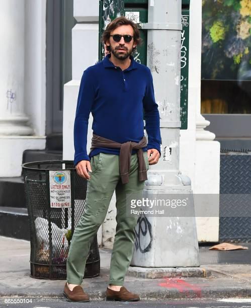 Andrea Pirlo is seen walking in Soho on October 23 2017 in New York City