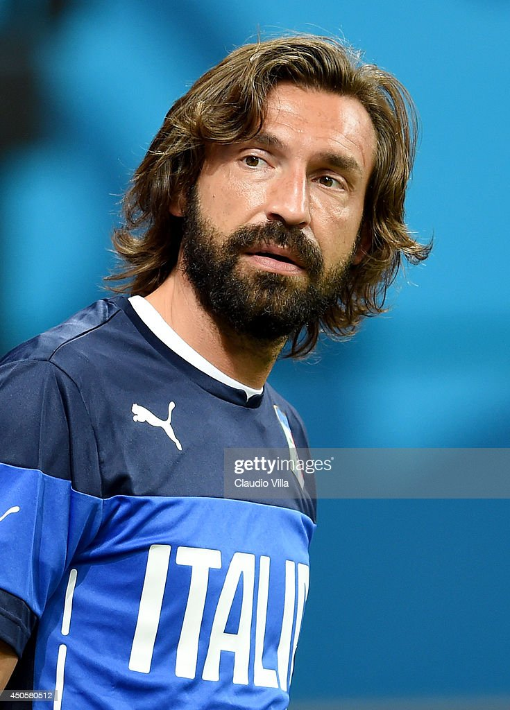 Andrea Pirlo looks on during an Italy training session at the Arena Amazonia on June 13, 2014 in Manaus, Brazil. Italy will play England in their opening group D match on June 14, 2014 in Manaus, Brazil.
