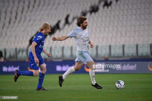 Andrea Pirlo of Campioni Per La Ricerca during the 30th 'Partita Del Cuore' charity friendly match at Allianz Stadium on May 25, 2021 in Turin, Italy.