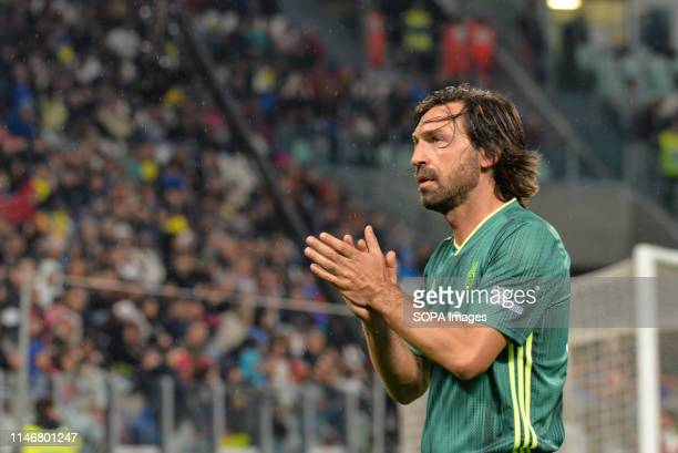 Andrea Pirlo of Campioni Per La Ricerca seen during the 'Partita Del Cuore' Charity Match at Allianz Stadium Campioni Per La Ricerca win the...