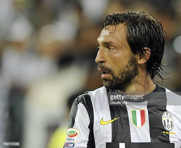 Andrea Pirlo of FC Juventus during the Serie A match between FC Juventus and Parma FC at Juventus Arena on August 25 2012 in Turin Italy