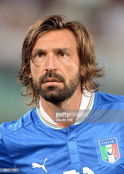 Andrea Pirlo of Italy before playing the FIFA 2014 World Cup Qualifier group B match between Italy and Bulgaria at Stadio Renzo Barbera on September...