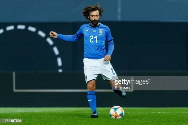 Andrea Pirlo of Italy controls the ball during the friendly match between DFBAllStars and Azzurri Legends at Sportpark Ronhof Thomas Sommer on...