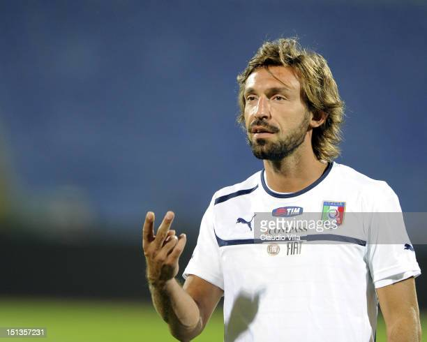 Andrea Pirlo of Italy during a training session ahead of their FIFA World Cup Brazil 2014 qualifier against Bulgaria at Vasil Levski National Stadium...