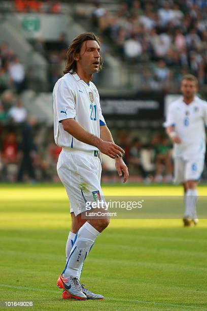 Andrea Pirlo of Italy during an international friendly match against Mexico as part of their preparation for 2010 FIFA World Cup at King Baudouin...