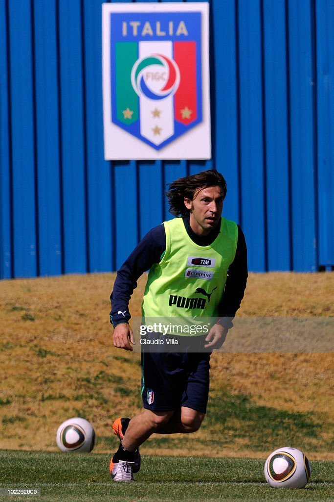 Andrea Pirlo of Italy during an Italian team training