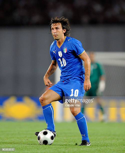 Andrea Pirlo of Italy during the FIFA 2010 World Cup Qualifier match between Georgia and Italy at Boris Paichadze National Stadium on September 5...