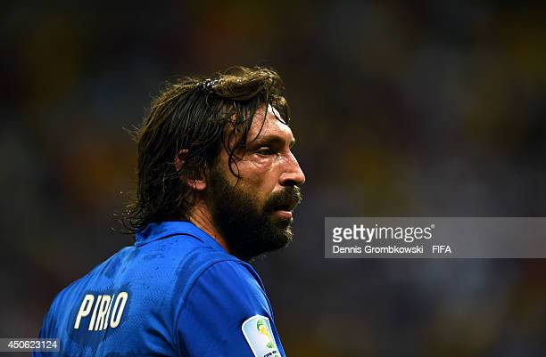 Andrea Pirlo of Italy looks on during the 2014 FIFA World Cup Brazil Group D match between England and Italy at Arena Amazonia on June 14 2014 in...