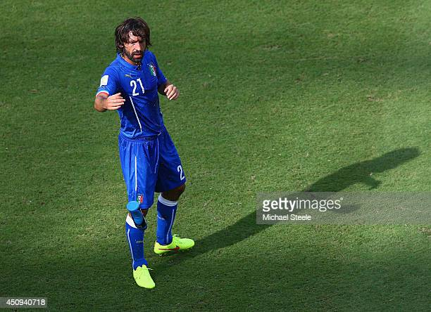 Andrea Pirlo of Italy looks on during the 2014 FIFA World Cup Brazil Group D match between Italy and Costa Rica at Arena Pernambuco on June 20 2014...