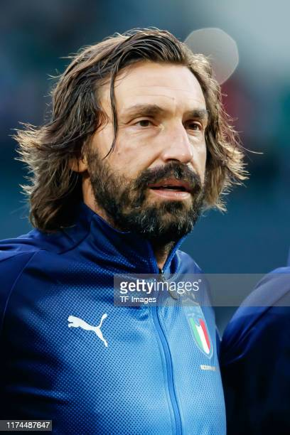 Andrea Pirlo of Italy looks on during the friendly match between DFBAllStars and Azzurri Legends at Sportpark Ronhof Thomas Sommer on October 7 2019...