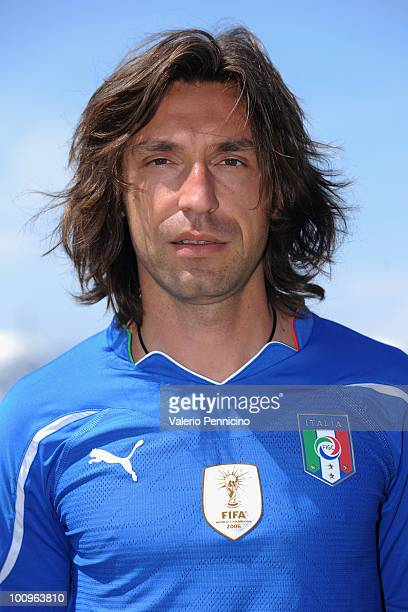 Andrea Pirlo of Italy national team poses for a photo during the official Fifa World Cup 2010 portrait session on May 26 2010 in Sestriere near Turin...