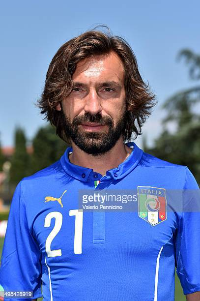 Andrea Pirlo of Italy poses during a portrait session ahead of the 2014 FIFA World Cup at Coverciano on June 3 2014 in Florence Italy
