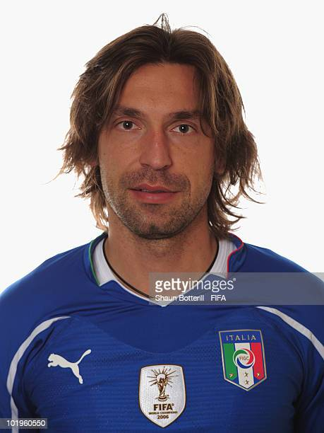 Andrea Pirlo of Italy poses during the official FIFA World Cup 2010 portrait session on June 10 2010 in Pretoria South Africa