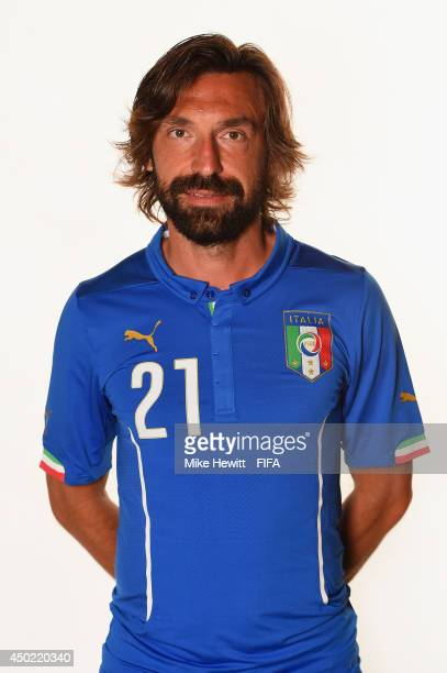 Andrea Pirlo of Italy poses during the official FIFA World Cup 2014 portrait session on June 6 2014 in Rio de Janeiro Brazil