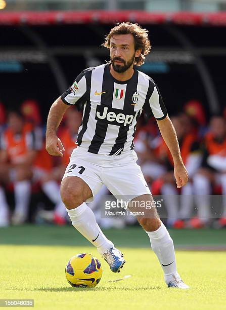 Andrea Pirlo of Juventus during the Serie A match between Calcio Catania and FC Juventus at Stadio Angelo Massimino on October 28 2012 in Catania...