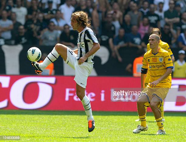 Andrea Pirlo of Juventus FC during the Serie A match between Juventus FC and Parma FC at Juventus Stadium on September 11 2011 in Turin Italy