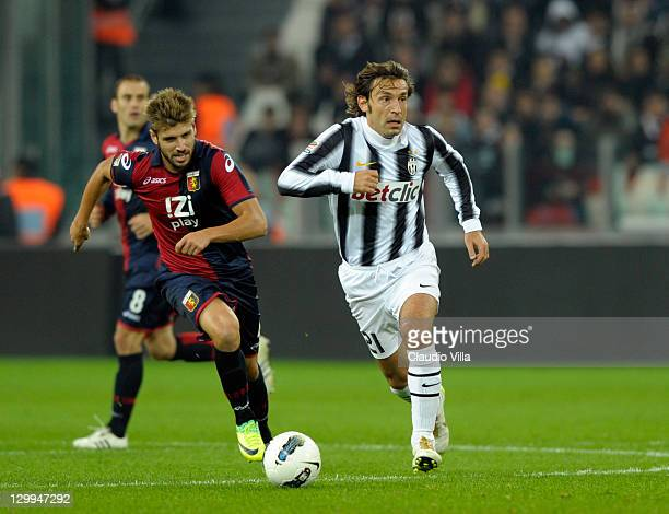 Andrea Pirlo of Juventus FC during the Serie A match between Juventus FC and Genoa CFC on October 22 2011 in Turin Italy