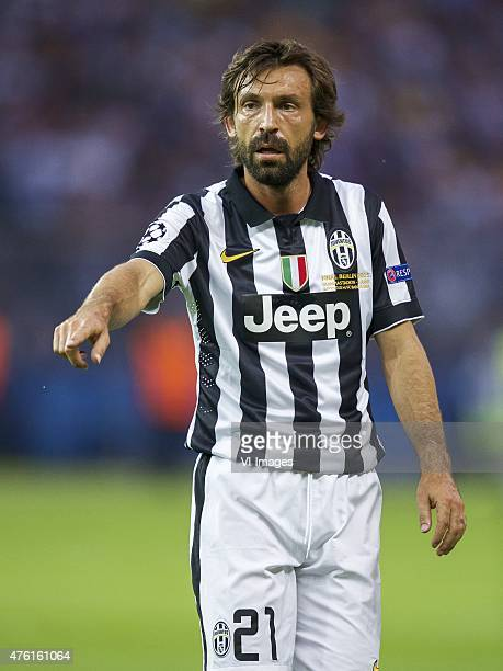 Andrea Pirlo of Juventus FC during the UEFA Champions League final match between Barcelona and Juventus on June 6 2015 at the Olympic stadium in...