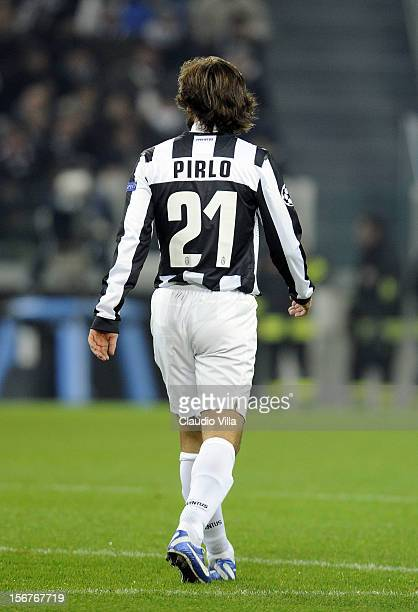 Andrea Pirlo of Juventus FC during the UEFA Champions League Group E match between Juventus and Chelsea FC at Juventus Arena on November 20 2012 in...