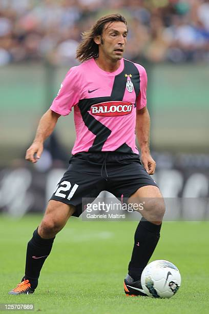 Andrea Pirlo of Juventus Fc in action during the Serie A match between AC Siena and Juventus FC at Artemio Franchi Mps Arena Stadium on September 18...