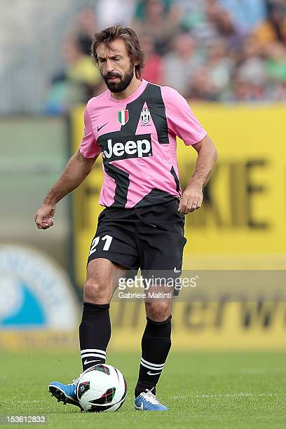 Andrea Pirlo of Juventus FC in action during the Serie A match between AC Siena and FC Juventus at Stadio Artemio Franchi on October 7 2012 in Siena...