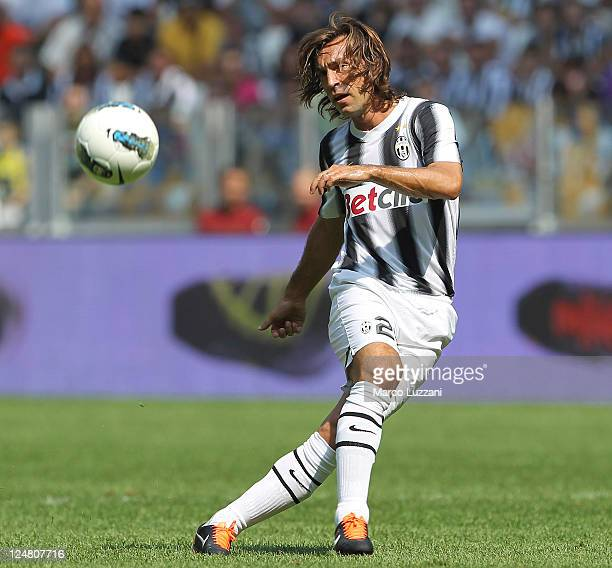Andrea Pirlo of Juventus FC in action during the Serie A match between Juventus FC and Parma FC at the Juventus Stadium on September 11 2011 in Turin...