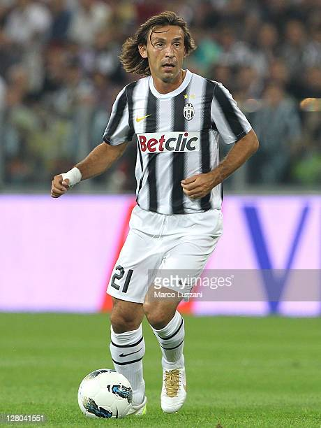 Andrea Pirlo of Juventus FC in action during the Serie A match between Juventus FC and AC Milan on October 2 2011 in Turin Italy
