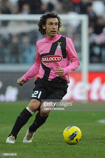Andrea Pirlo of Juventus FC in action during the Serie A match between Juventus FC and Novara Calcio at Juventus Arena on December 18 2011 in Turin...