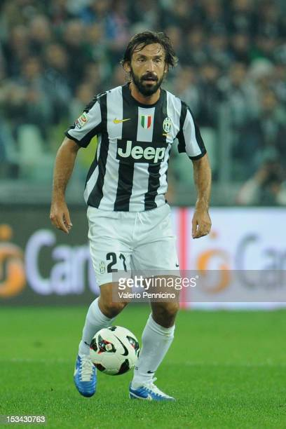 Andrea Pirlo of Juventus FC in action during the Serie A match between Juventus FC and AS Roma at Juventus Arena on September 29 2012 in Turin Italy