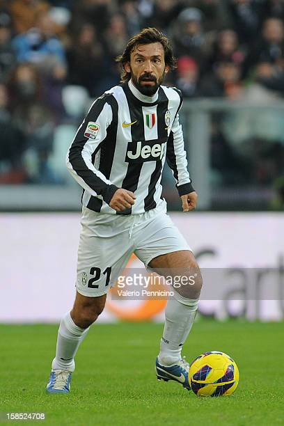 Andrea Pirlo of Juventus FC in action during the Serie A match between Juventus FC and Atalanta BC at Juventus Arena on December 16 2012 in Turin...