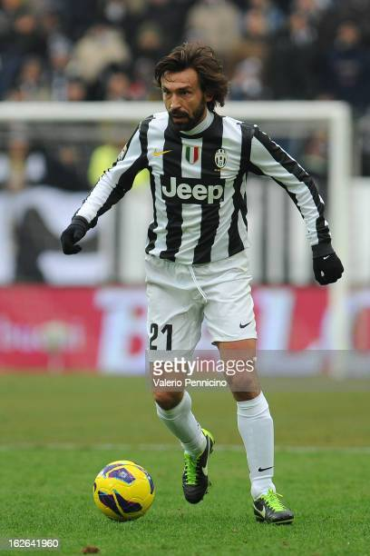 Andrea Pirlo of Juventus FC in action during the Serie A match between Juventus FC and AC Siena at Juventus Arena on February 24 2013 in Turin Italy