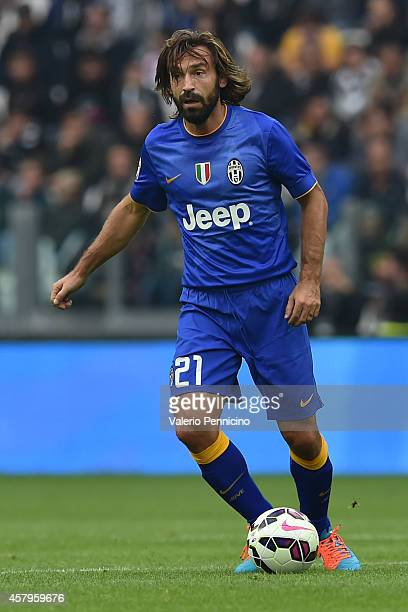 Andrea Pirlo of Juventus FC in action during the Serie A match between Juventus FC and US Citta di Palermo at Juventus Arena on October 26 2014 in...