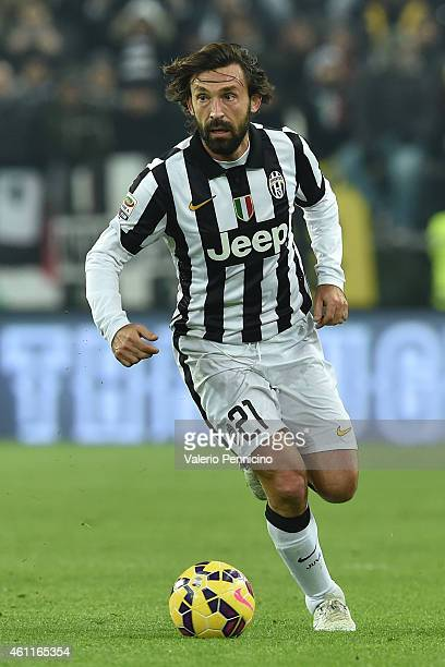 Andrea Pirlo of Juventus FC in action during the Serie A match between Juventus FC and FC Internazionale Milano at Juventus Arena on January 6 2015...