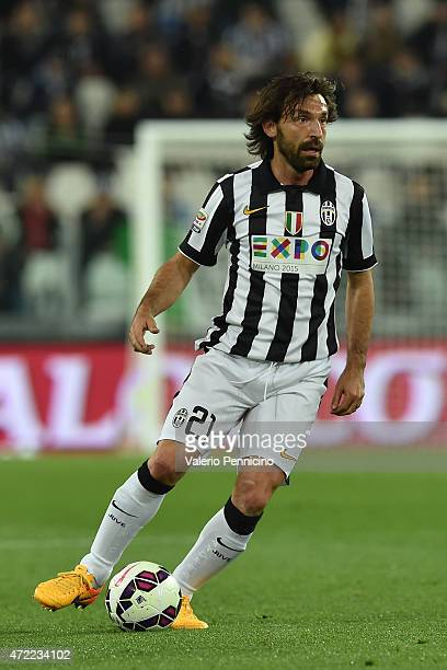 Andrea Pirlo of Juventus FC in action during the Serie A match between Juventus FC and ACF Fiorentina at Juventus Arena on April 29 2015 in Turin...