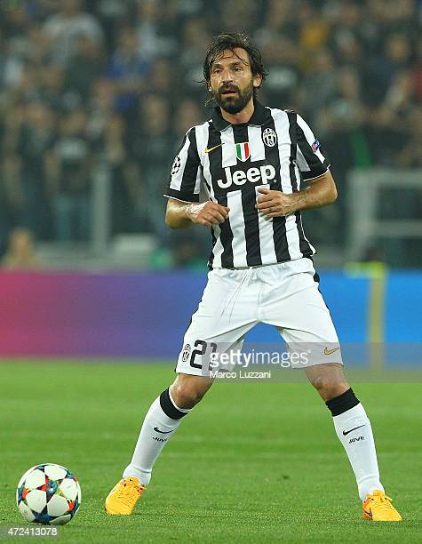Andrea Pirlo of Juventus FC in action during the UEFA Champions League semi final match between Juventus and Real Madrid CF at Juventus Arena on May...