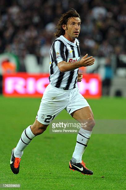 Andrea Pirlo of Juventus FC looks on during the Serie A match between Juventus FC and Bologna FC on September 21 2011 in Turin Italy