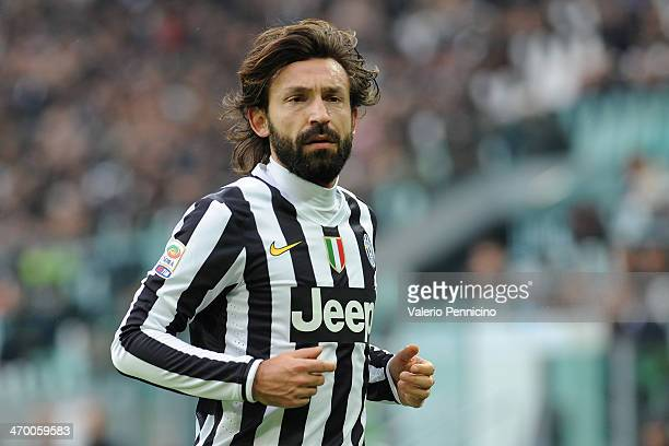 Andrea Pirlo of Juventus looks on during the Serie A match between Juventus and AC Chievo Verona at Juventus Arena on February 16 2014 in Turin Italy