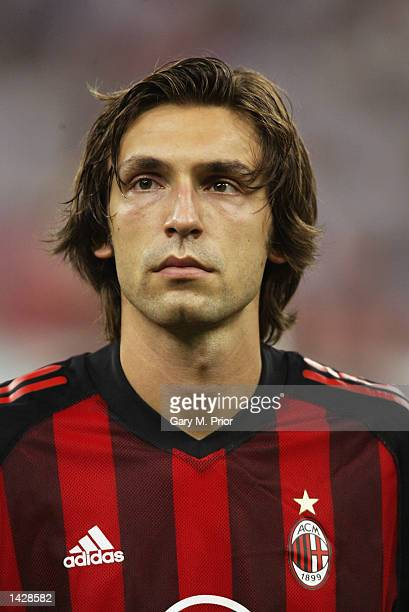 Andrea Pirlo of Milan during the line up before the UEFA Champions League match between AC Milan and RC Lens held at the Giuseppe Meazza San Siro...