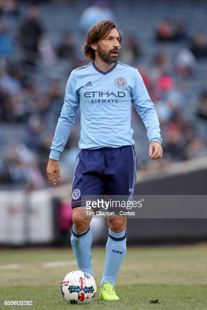 Andrea Pirlo of New York City FC in action during the New York City FC Vs Montreal Impact regular season MLS game at Yankee Stadium on March 18 2017...