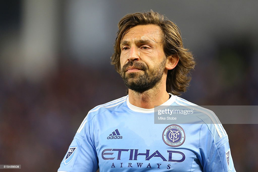 Andrea Pirlo #21 of New York City FC looks on during the match against the Toronto FC at Yankee Stadium on March 13, 2016 in the Bronx borough of New York City.