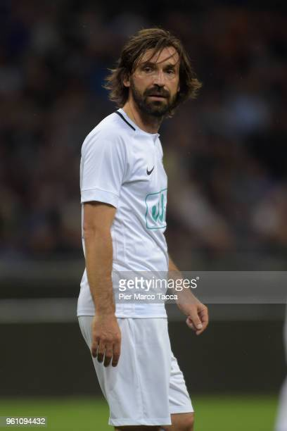 Andrea Pirlo of White Stars in action during Andrea Pirlo Farewell Match at Stadio Giuseppe Meazza on May 21 2018 in Milan Italy
