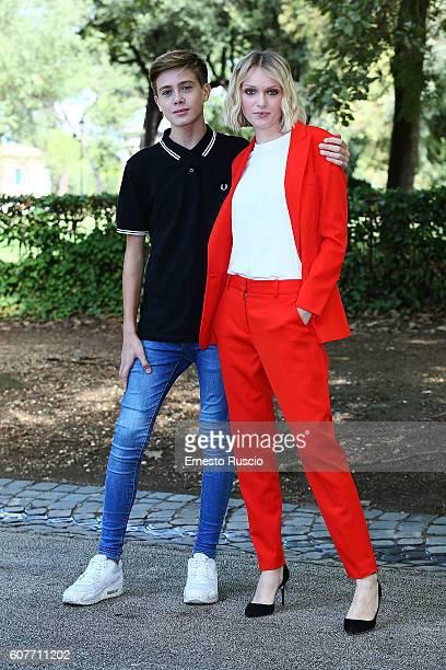 Andrea Pittorino and Caterina Shulha attend a photocall for 'La Vita Possibile' at La Casa Del Cinema on September 19 2016 in Rome Italy