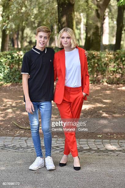 Andrea Pittorino and Caterina Shulha attends a photocall for 'La Vita Possibile' on September 19 2016 in Rome Italy