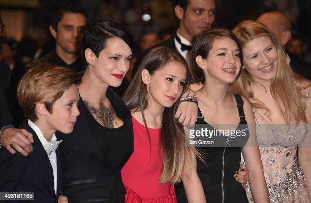 Andrea Pittorino director Asia Argento and actresses attends the 'Misunderstood' premiere during the 67th Annual Cannes Film Festival on May 22 2014...