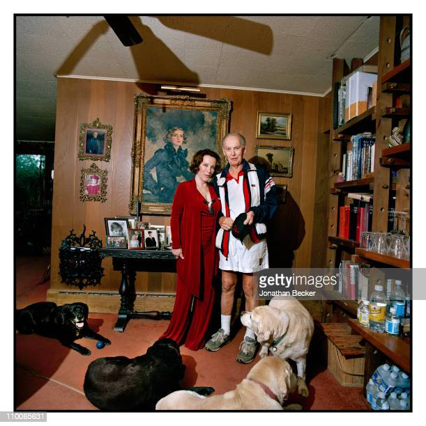 Andrea Plunket and husband Shaun Plunket are photographed at home for Tatler Magazine on September 15 2009 in Catskill New York Published image