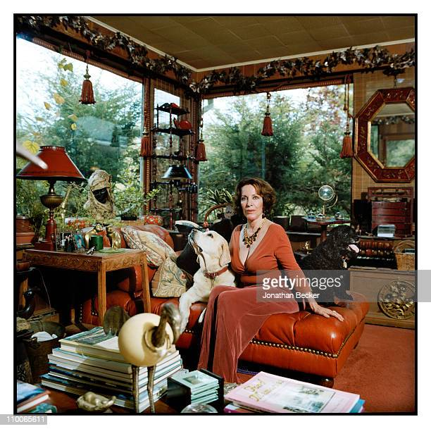 Andrea Plunket is photographed at home for Tatler Magazine on September 15 2009 in Catskill New York Published image
