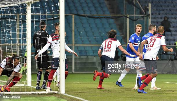 Andrea Poli of Bologna celebrates after goal 11 during the Serie A match between UC Sampdoria and Bologna FC at Stadio Luigi Ferraris on December 2...