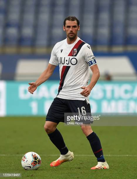 Andrea Poli of Bologna FC during the Serie A match between UC Sampdoria and Bologna FC at Stadio Luigi Ferraris on June 28 2020 in Genoa Italy