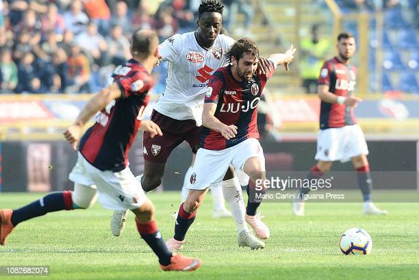 Andrea Poli of Bologna FC in action during the Serie A match between Bologna FC and Torino FC at Stadio Renato Dall'Ara on October 21 2018 in Bologna...